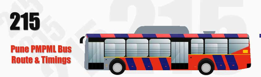 215 Pune PMPML City Bus Route and PMPML Bus Route 215 Timings with Bus Stops