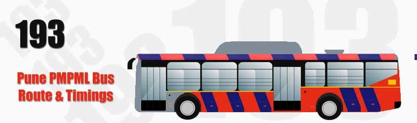 193 Pune PMPML City Bus Route and PMPML Bus Route 193 Timings with Bus Stops